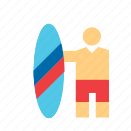 fun, man, people, person, sport, surf, surfer icon