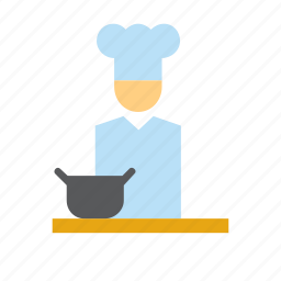 chef, cook, cooking, man, people, person, restaurant icon