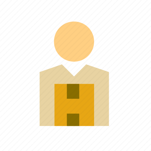 box, cardboard, man, people, person, transport, transporter icon