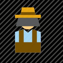 bee, beekeeper, beekeeping, farm, man, people, person icon