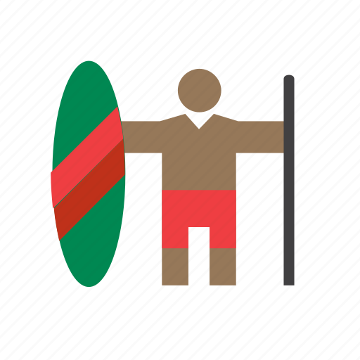 africa, african, man, masai, people, person, warrior icon