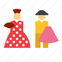 bullfighter, man, people, person, spain, spanish, woman icon