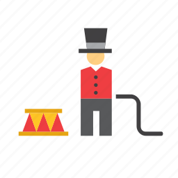 circus, lion, man, people, person, tamer icon