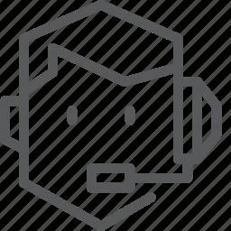 avatar, caster, face, headphone, job, microphone, occupation, pod icon