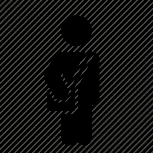 man, postman, schoolboy, student icon