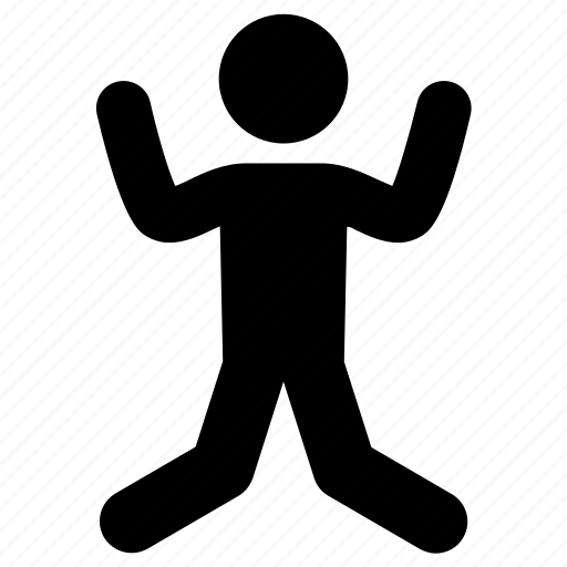 happy, jump, jumping, man icon