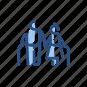 elders, grandparents, people, person icon