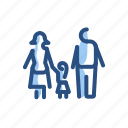 child, family, girl, parents, people icon