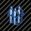 group, men, small, three icon
