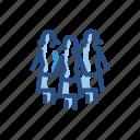 group, small, three, women icon