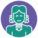 court, court of law, judge, justice, law, lawyer, woman judge icon
