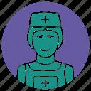 doctor, hospital, hospital nurse, medical practitioner, nurse, nurse icon icon