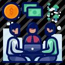 arrow, cash, chat, dollar, finance, money, rise icon