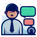 chat, communication, conversation, customer, service, support, text icon