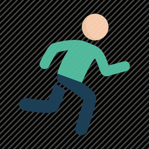 man, run, runner, running icon