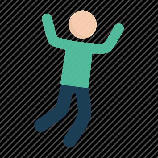 jump, jumping, man, people icon