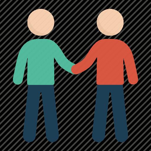 agreement, deal, handshake, man, people icon