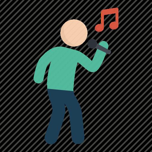 music, people, sing, singing, song icon
