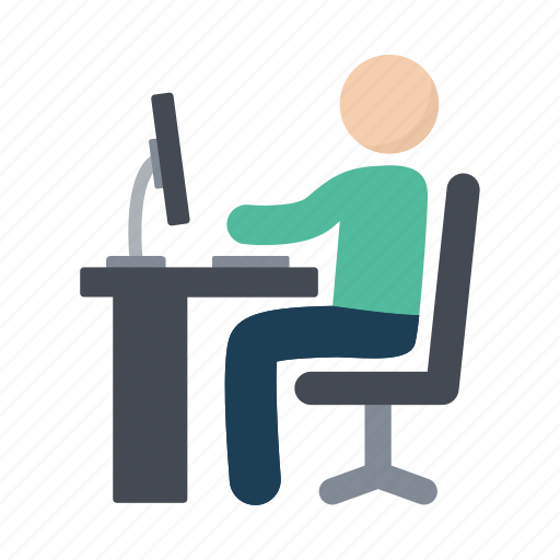 computer, office, work, working icon