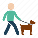 animal, dog, dog walk, pet, walk icon
