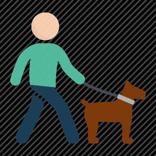 animal, dog, dog walk, pet, walk icon
