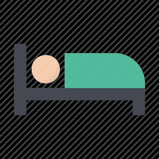 bedroom, hotel, night, sleep, sleeping icon