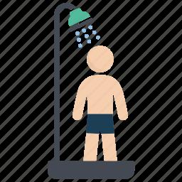 bathroom, shower, wash, water icon