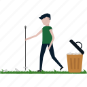 cleaning, garden, janitor, nature, park, work icon