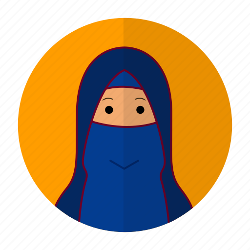 design, flat design, muslim, woman icon