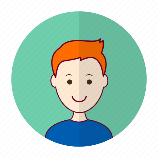 british man, redhead, white man icon