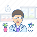 dental doctor, dental surgeon, dentist, doctor, physician icon