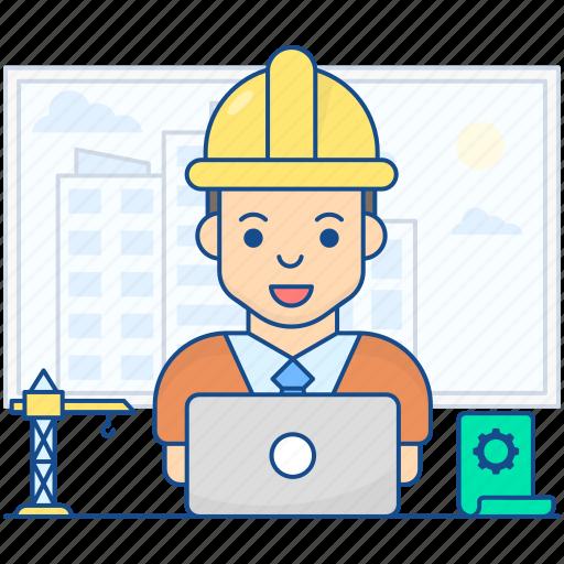 architect, builder, building consultant, designer, draughtsman, engineer, planner icon