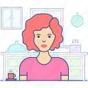 avatar, feminine, retro girl, retro lady, retro woman icon
