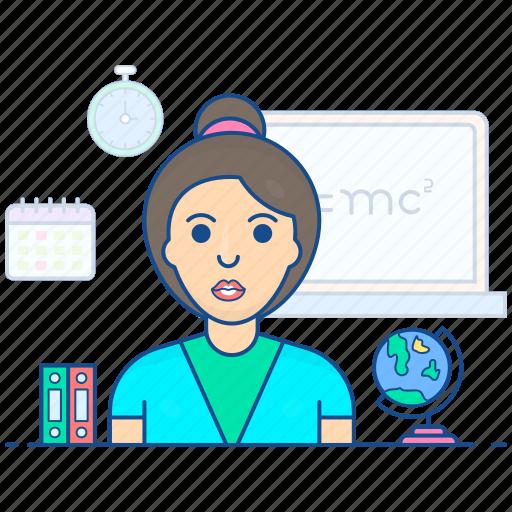 educator, female teacher, instructor, teacher, tutor icon
