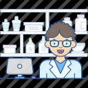 apothecary, chemist, druggist, pharmacist, pharmacologist icon