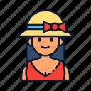 avatar, hat, people icon