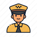 avatar, driver, occupation, profession, taxi, uniform icon