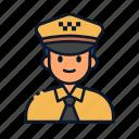 avatar, profession, driver, uniform, occupation, taxi icon