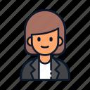 occupation, business, avatar, profession, businesswoman icon