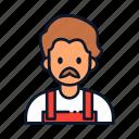 avatar, barista, cafe, occupation, profession icon