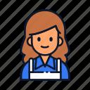 avatar, cashier, occupation, people, profession icon