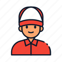avatar, courier, delivery, people icon