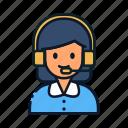 avatar, care, customer, people, service, woman icon
