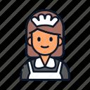avatar, housekeeping, maid, occupation, profession icon