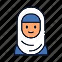 avatar, hijab, islam, muslim icon