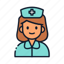 nurse, occupation, avatar, profession icon