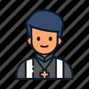 avatar, occupation, pastor, profession icon