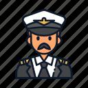 avatar, occupation, pilot, profession, uniform icon