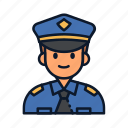 avatar, occupation, police, profession, uniform icon