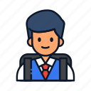 avatar, backpack, people, profile, student, user icon